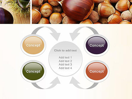 Nuts Collage PowerPoint Template Slide 6