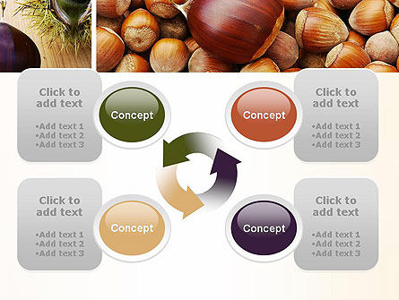 Nuts Collage PowerPoint Template Slide 9