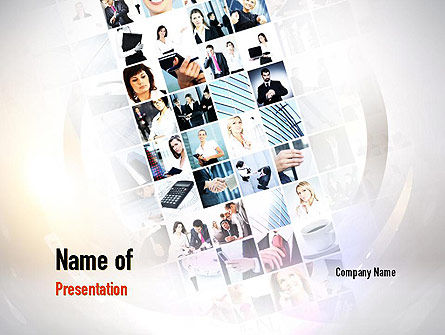 Office Collage PowerPoint Template