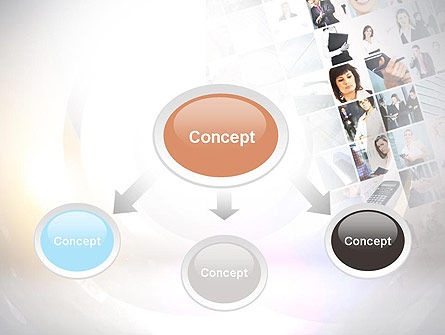 Office Collage PowerPoint Template, Slide 4, 10899, People — PoweredTemplate.com