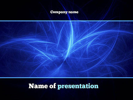 Abstract Blue Nebula PowerPoint Template, 10900, Abstract/Textures — PoweredTemplate.com