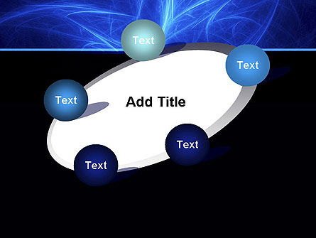Abstract Blue Nebula PowerPoint Template Slide 14