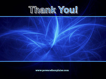 Abstract Blue Nebula PowerPoint Template Slide 20