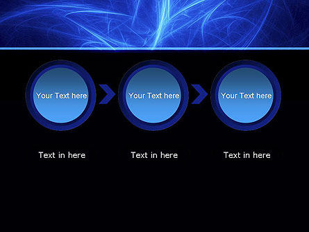 Abstract Blue Nebula PowerPoint Template Slide 5