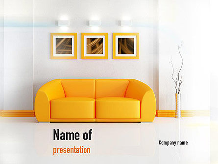 Careers/Industry: Bright Living Room PowerPoint Template #10901