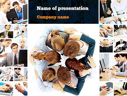 People: Working Together PowerPoint Template #10902