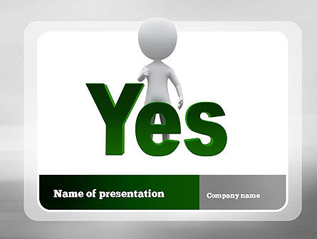 Yes PowerPoint Template, 10903, Business Concepts — PoweredTemplate.com