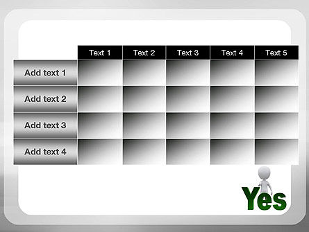 Yes PowerPoint Template Slide 15