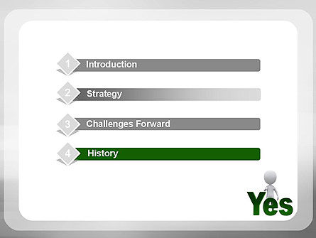 Yes PowerPoint Template, Slide 3, 10903, Business Concepts — PoweredTemplate.com