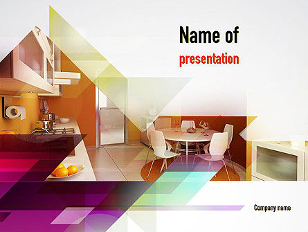 Kitchen Design Powerpoint Template Backgrounds 10905