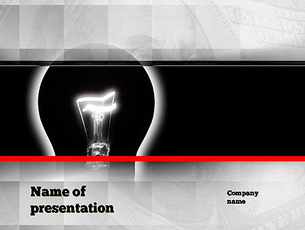 Bulb Silhouette PowerPoint Template, 10906, Consulting — PoweredTemplate.com