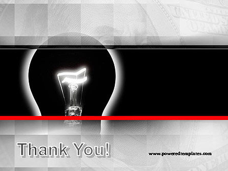 Bulb Silhouette PowerPoint Template Slide 20