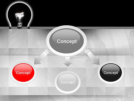Bulb Silhouette PowerPoint Template, Slide 4, 10906, Consulting — PoweredTemplate.com