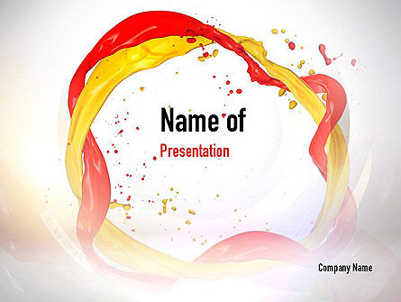 Paint Frame Splash PowerPoint Template