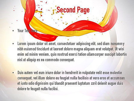 Paint Frame Splash PowerPoint Template Slide 2