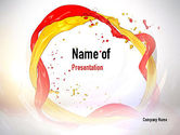 Abstract/Textures: Paint Frame Splash PowerPoint Template #10909
