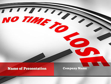 Business Concepts: Clock Counting Down PowerPoint Template #10910
