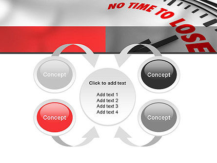 Clock Counting Down PowerPoint Template Slide 6