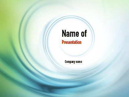 Abstract/Textures: Spiral Wave PowerPoint Template #10911