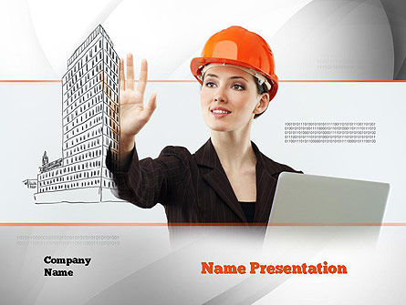 Careers/Industry: Innovative Technology in Architecture PowerPoint Template #10912