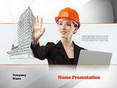 Careers/Industry: Modèle PowerPoint de technologie innovante en architecture #10912