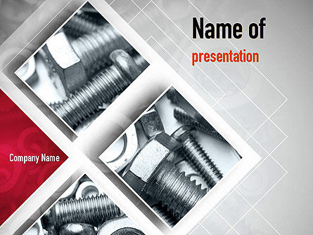 Bolts PowerPoint Template, 10913, Utilities/Industrial — PoweredTemplate.com