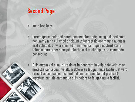 Bolts PowerPoint Template, Slide 2, 10913, Utilities/Industrial — PoweredTemplate.com