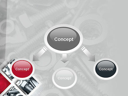 Bolts PowerPoint Template, Slide 4, 10913, Utilities/Industrial — PoweredTemplate.com