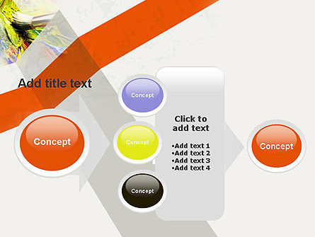 Mixing Paint PowerPoint Template Slide 17