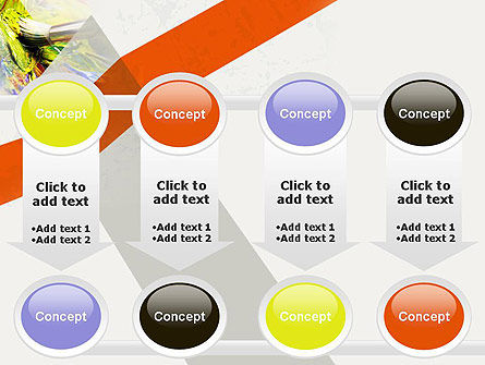 Mixing Paint PowerPoint Template Slide 18