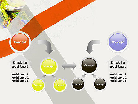 Mixing Paint PowerPoint Template Slide 19