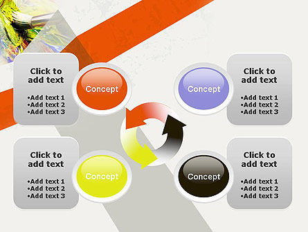 Mixing Paint PowerPoint Template Slide 9