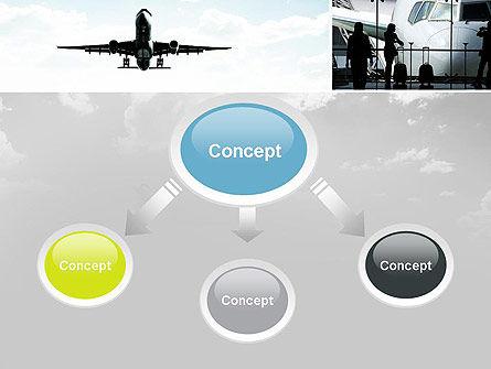 Runway PowerPoint Template, Slide 4, 10915, Cars and Transportation — PoweredTemplate.com