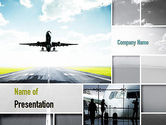 Cars and Transportation: Runway PowerPoint Template #10915