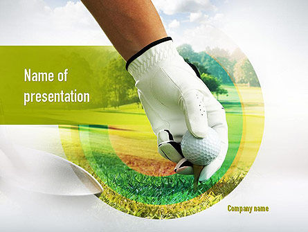 Sports: Golf Theme PowerPoint Template #10917