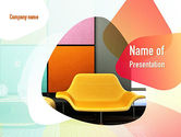 Careers/Industry: Yellow Sofa PowerPoint Template #10919