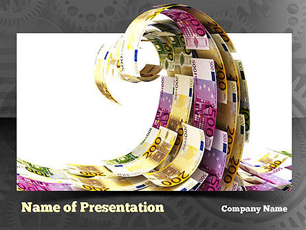 Financial Tsunami PowerPoint Template, 10920, Financial/Accounting — PoweredTemplate.com