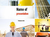 Construction: Construction Collage PowerPoint Template #10923