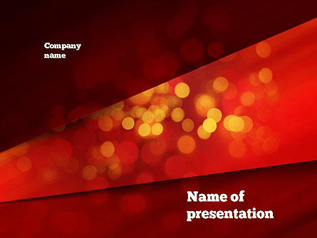 Abstract/Textures: Abstract Red Spots PowerPoint Template #10924