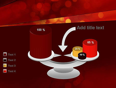 Abstract Red Spots PowerPoint Template Slide 10