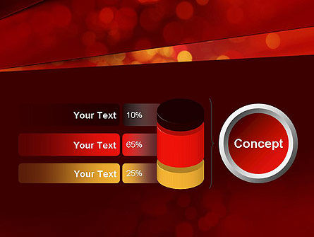 Abstract Red Spots PowerPoint Template Slide 11