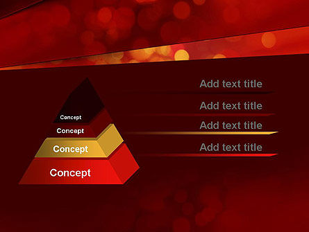 Abstract Red Spots PowerPoint Template Slide 12