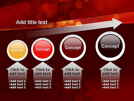 Abstract Red Spots PowerPoint Template Slide 13
