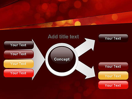 Abstract Red Spots PowerPoint Template Slide 14
