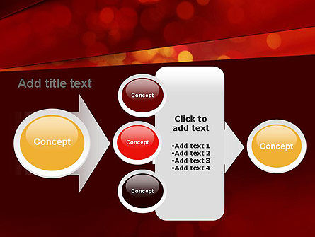 Abstract Red Spots PowerPoint Template Slide 17