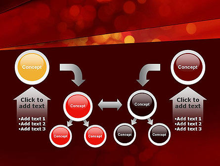 Abstract Red Spots PowerPoint Template Slide 19