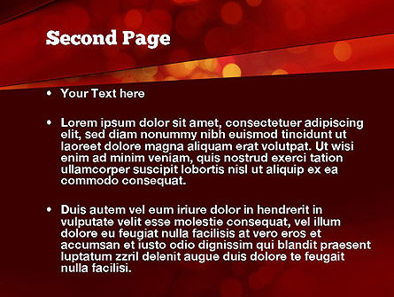 Abstract Red Spots PowerPoint Template, Slide 2, 10924, Abstract/Textures — PoweredTemplate.com
