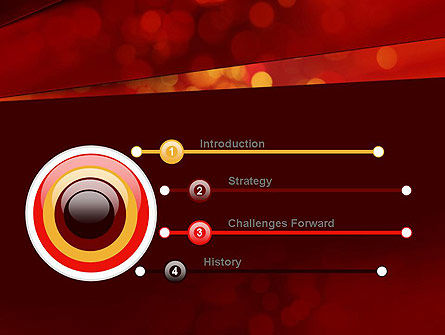 Abstract Red Spots PowerPoint Template, Slide 3, 10924, Abstract/Textures — PoweredTemplate.com