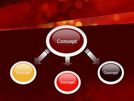 Abstract Red Spots PowerPoint Template Slide 4