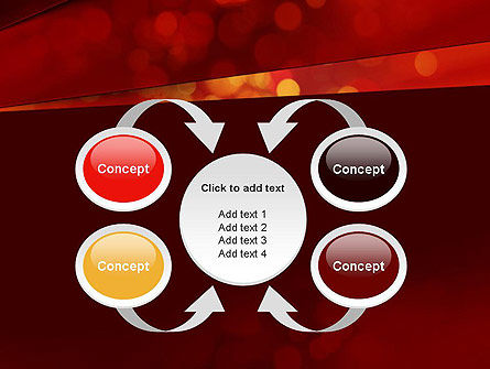 Abstract Red Spots PowerPoint Template Slide 6